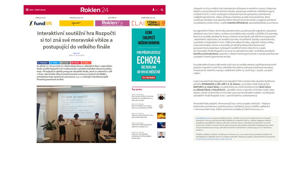 Roklen24.cz, 23.6. 2020